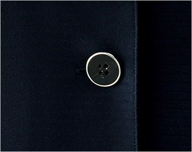 en joie(アンジョア) 26605 [春夏用]タイ付きカラーのオーバーブラウス ボーダー[ストレッチ] シルバー縁でモタンテイストなボタン