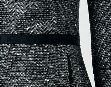 en joie(アンジョア) 41680 [通年]きちんと感のあるツイードの好印象なプルオーバー 腰高効果のある黒いベルト