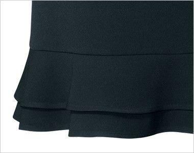 en joie(アンジョア) 51411 [通年]立体感のあるシルエットで快適なティアードスカート 無地 二重の裾フリル