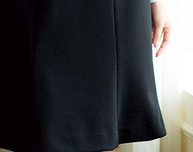 en joie(アンジョア) 51452 [通年]上質素材で美しいラインをキープするマーメイドスカート 無地 切り替えラインで上品な表情