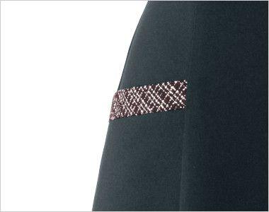en joie(アンジョア) 61430 [通年]1枚でも絵になるノーブルな上質ワンピース(女性用) ツイード×無地 斜めラインでチェック柄のポケット