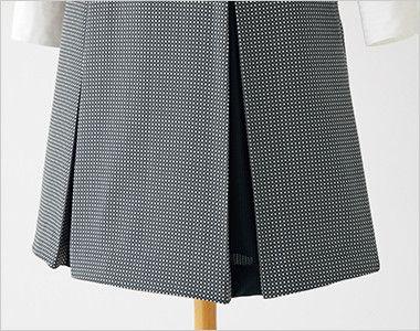 en joie(アンジョア) 61510 [通年]ウエストの締め付けがなくストレスフリーのジャンパースカート 無地 スカート部分はプリーツ仕様