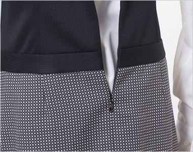 en joie(アンジョア) 61510 [通年]ウエストの締め付けがなくストレスフリーのジャンパースカート 無地 ファスナーは腰まで下がるので着脱がらくらく