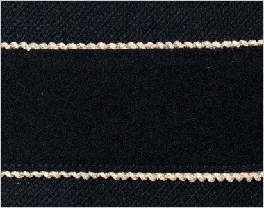 en joie(アンジョア) 61650 [通年]シルエットが美しくゴールドがアクセントのワンピース(女性用) 無地×ラメ ゴールドのラメテープがきれいなベルト