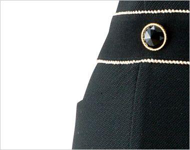 en joie(アンジョア) 61650 [通年]シルエットが美しくゴールドがアクセントのワンピース(女性用) 無地×ラメ ポケット付きで小物収納OK