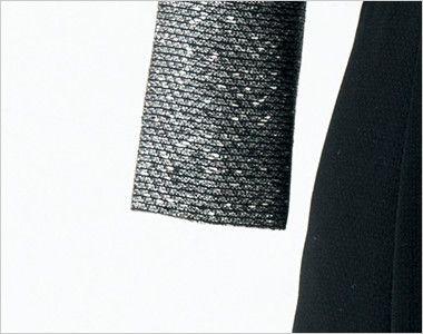 en joie(アンジョア) 61680 [通年]優しい雰囲気のネックラインで大人可愛い七分袖ワンピース(女性用) ツイード×無地 いつでも快適に着こなせる七分袖