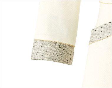 en joie(アンジョア) 61690 [通年]ふんわり柔らかでハイウエストの切替で美脚効果のワンピース/七分袖(女性用) 無地 エレガントなツイードとゴールドのラメテープできれいに