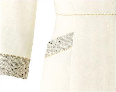 en joie(アンジョア) 61690 [通年]ふんわり柔らかでハイウエストの切替で美脚効果のワンピース/七分袖(女性用) 無地 小物収納に便利なポケット