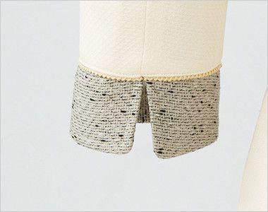 en joie(アンジョア) 61690 [通年]ふんわり柔らかでハイウエストの切替で美脚効果のワンピース/七分袖(女性用) 無地 スリットのある袖だから窮屈になりづらい