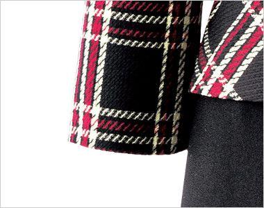 en joie(アンジョア) 61790 [通年]エレガントな美しいラインが際立つ上質ワンピース(女性用) チェック 手の上げ下げでもきれいに見える七分袖