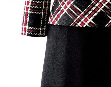en joie(アンジョア) 61790 [通年]エレガントな美しいラインが際立つ上質ワンピース(女性用) チェック 小物収納に便利なポケット