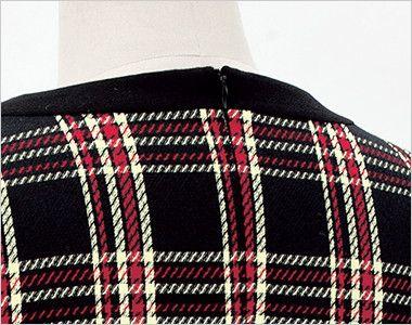 en joie(アンジョア) 61790 [通年]エレガントな美しいラインが際立つ上質ワンピース(女性用) チェック ファスナーだから着脱がらくらく