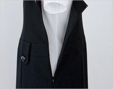 en joie(アンジョア) 66300 [春夏用]涼しい着心地のジャンパースカート 無地 ファスナーで着脱らくらく