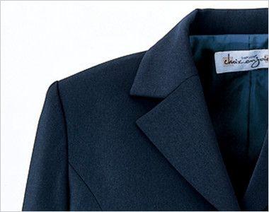 en joie(アンジョア) 81070 [通年]エコ素材で着心地バツグンのジャケット 無地 スーツジャケットの定番のノッチドラペル