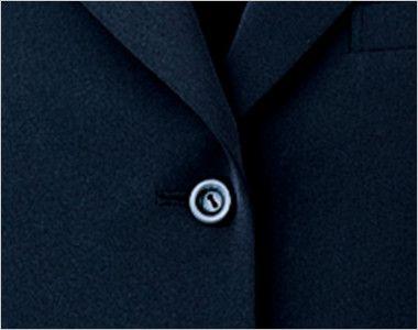 en joie(アンジョア) 81070 [通年]エコ素材で着心地バツグンのジャケット 無地 シンプルな黒いボタン