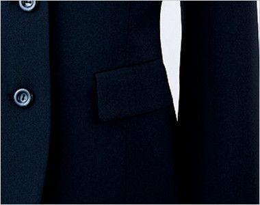 en joie(アンジョア) 81070 [通年]エコ素材で着心地バツグンのジャケット 無地 ポケット