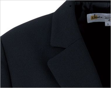 en joie(アンジョア) 81370 軽さと伸縮性があり凹凸感が上品なストレッチジャケット 無地 スーツジャケットの定番のノッチドラペル