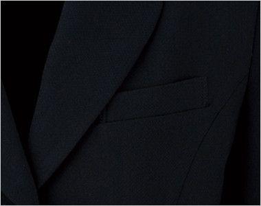 en joie(アンジョア) 81370 軽さと伸縮性があり凹凸感が上品なストレッチジャケット 無地 ポケット