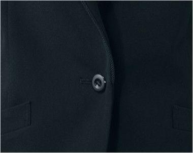 en joie(アンジョア) 81410 [通年]ひとつボタンでスタイリッシュにキメるストレッチジャケット 無地 シンプルな黒いボタン