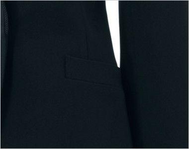 en joie(アンジョア) 81410 [通年]ひとつボタンでスタイリッシュにキメるストレッチジャケット 無地 ポケット