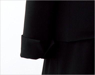 en joie(アンジョア) 81410 [通年]ひとつボタンでスタイリッシュにキメるストレッチジャケット 無地 後ろ部分