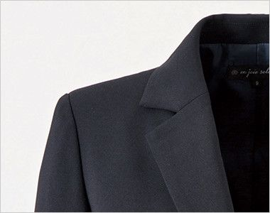 en joie(アンジョア) 81415 [通年]美しいシルエットのテーラードジャケット 無地 スーツジャケットの定番のノッチドラペル