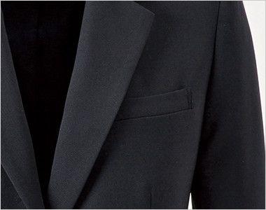 en joie(アンジョア) 81415 [通年]美しいシルエットのテーラードジャケット 無地 ポケット