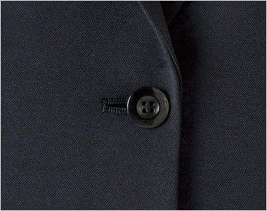 en joie(アンジョア) 81415 [通年]美しいシルエットのテーラードジャケット 無地 シンプルな黒いボタン