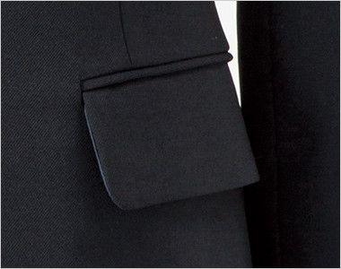 en joie(アンジョア) 81415 [通年]美しいシルエットのテーラードジャケット 無地 フラップポケット