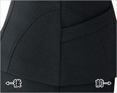 [在庫限り/返品交換不可]en joie(アンジョア) 81450 接客・営業に!シックな色合いのニットジャケット 無地 腰の切替で女性らしいシルエットを演出