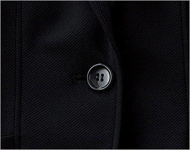 [在庫限り/返品交換不可]en joie(アンジョア) 81450 接客・営業に!シックな色合いのニットジャケット 無地 シンプルな黒いボタン