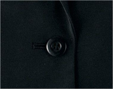 en joie(アンジョア) 81550 [通年]光沢×しなやか風合いのストレッチジャケット 無地[静電気がおきにくい] シンプルな黒いボタン