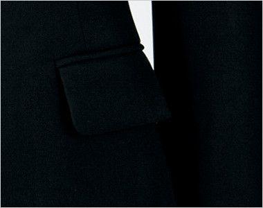 en joie(アンジョア) 81550 [通年]光沢×しなやか風合いのストレッチジャケット 無地[静電気がおきにくい] すっきりしたデザイン