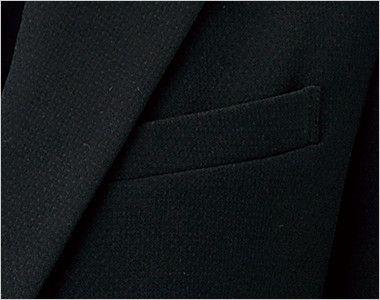 en joie(アンジョア) 81620 すっきりきれいなシルエットのストレッチジャケット 無地 ポケット
