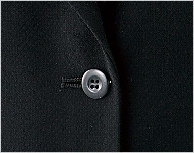 en joie(アンジョア) 81620 すっきりきれいなシルエットのストレッチジャケット 無地 シンプルな黒いボタン