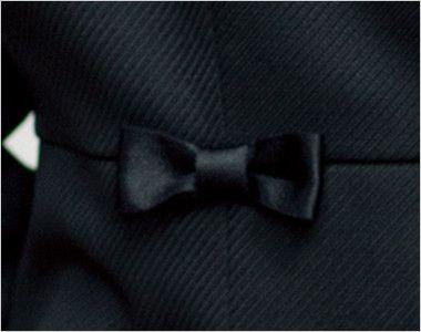 en joie(アンジョア) 81650 [秋冬用]上質感あふれるディテールで品格あるジャケット(リボン付き) 無地 さりげなくてかわいい小さな黒リボン付き