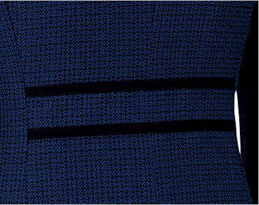 en joie(アンジョア) 81730 [秋冬用]知的エレガンスで高級感のあるブルーツイード素材ジャケット 後ろ姿もきれいにみせる背ベルト