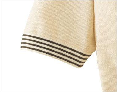 en joie(アンジョア) 86370 [春夏用]モダンなボーダー×ミルクティーのような色合いのサマージャケット(ブローチ付) ボーダーがアクセントになる