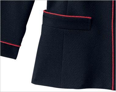en joie(アンジョア) 86460 [春夏用]清楚で上品なジャケット(胸元リボン付き) 無地 上から出し入れできるポケット付き