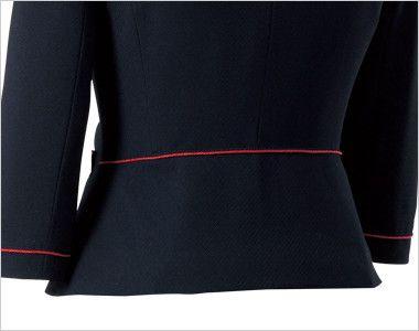 en joie(アンジョア) 86460 [春夏用]清楚で上品なジャケット(胸元リボン付き) 無地 ペプラムで後ろ姿もかわいく