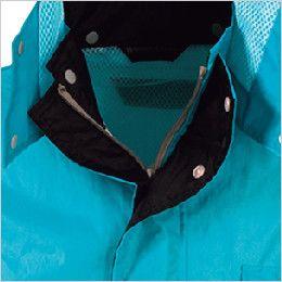 カジメイク 3293 [通年]ディフェンドレインスーツ(男女兼用) 雨や風の侵入を防ぐ二重前立て仕様