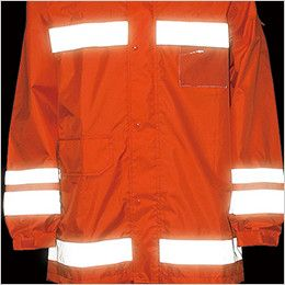 カジメイク 3810 [通年]視認性レインスーツ(男女兼用) 360度、どの角度からも視認性を確保
