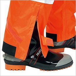 カジメイク 3810 [通年]視認性レインスーツ(男女兼用) 靴を履いたまま着脱が可能