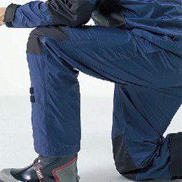 カジメイク KM001 [通年]高強力仕事合羽(男女兼用) 補強したひざ、さらに立体裁断で動きやすいパンツ