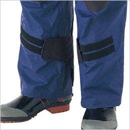 カジメイク KM001 [通年]高強力仕事合羽(男女兼用) 独自の大型タブで裾を大胆に絞れ活動性抜群!