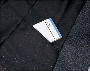 EAJ417 enjoy ジャケット ストライプ シークレットポケット
