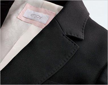 EAJ511 enjoy ジャケット 無地 優しい印象を演出する贅沢なデザイン