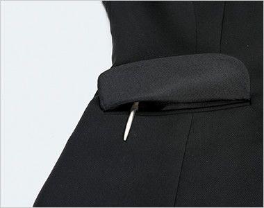 ENJOY EAJ513 [通年]ノーカラージャケット 無地 ペンポケット