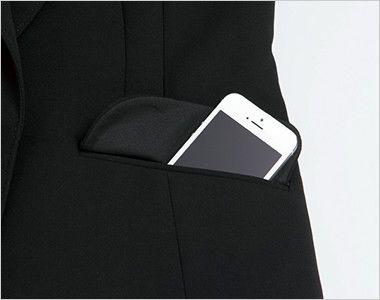 ENJOY EAJ513 [通年]ノーカラージャケット 無地 大容量ポケット