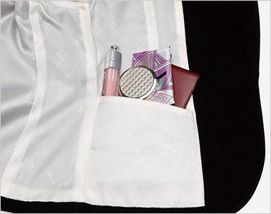 ENJOY EAJ513 [通年]ノーカラージャケット 無地 シークレットポケット